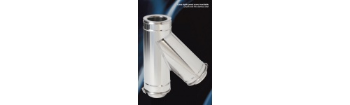 PracticShunt Two Walls Airtight AISI 316L Stainless Steel - Aluminized Steel
